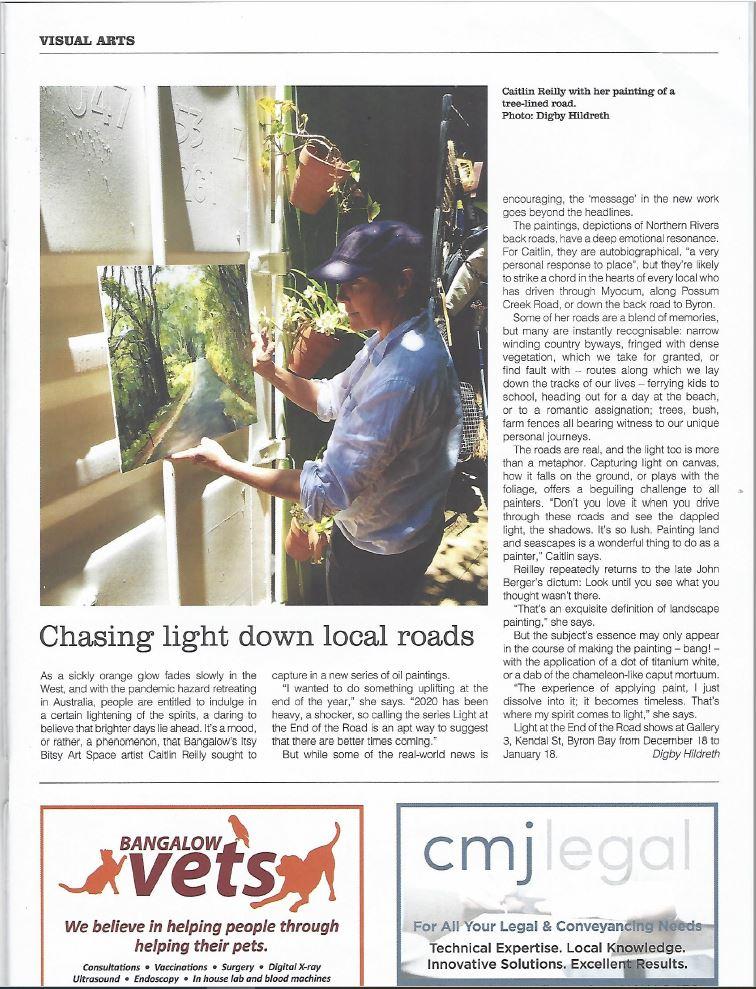 caitlin newspaper article roads