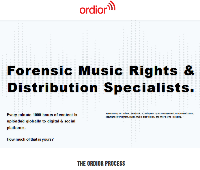 ordior website new update screengrab
